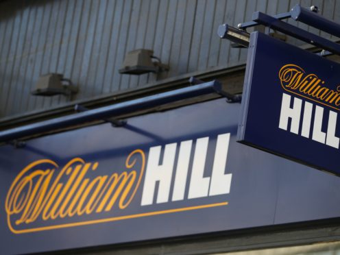 Bookmaker William Hill has reported annual profits crashed by 91% (PA)
