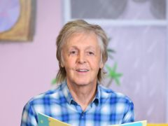 Paul McCartney during a signing session for his new book, Hey Grandude!, at Waterstones Piccadilly (Ian West/PA)