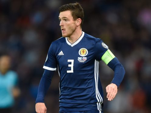 Scotland skipper Andy Robertson is pleased to be back with his international team-mates (Ian Rutherford/PA)