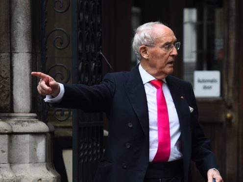 Sir Frederick Barclay leaving the High Court in London following an earlier hearing (Kirsty O'Connor/PA)