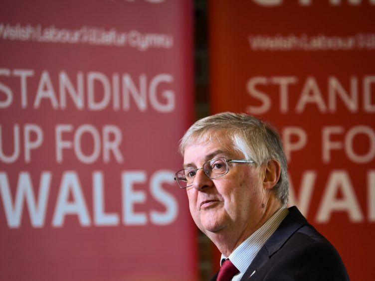 Mark Drakeford said it was Welsh Labour that had 'the positive, outward looking and progressive ideas to help families and communities across Wales' (Ben Birchall/PA)