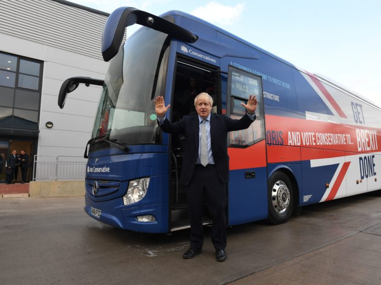 Boris Jonson is unveiling a shake-up of the bus sector (Stefan Rousseau/PA)