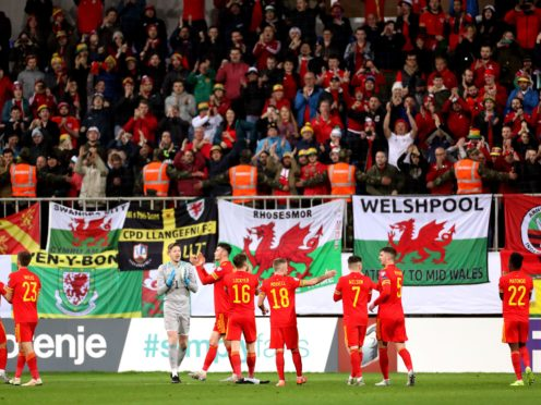 The Wales football team is to be supported by a Rainbow Wall as well as a Red one (Bradley Collyer/PA)