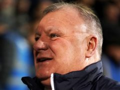 Steve Evans enjoyed a comfortable win as he awaits the arrival of his first grandchild (John Walton/PA)
