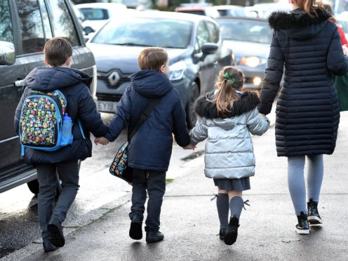 Researchers found no evidence that living with young children increased adults' risk of Covid-19 (Nick Ansell/PA)