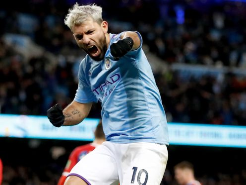 Manchester City's greatest goalscorer Sergio Aguero is set to leave the club (Martin Rickett/PA)