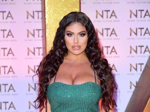 Anna Vakili during the National Television Awards at London's O2 Arena.