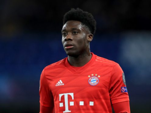 Bayern Munich's Alphonso Davies is offering his support to the UN Refugee Agency (PA)