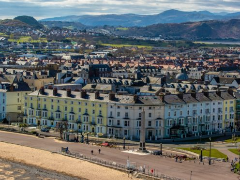 The seafront at Llandudno, north Wales, almost empty of people during lockdown (Peter Byrne/PA)