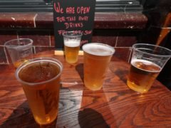 Britons have been encouraged to return to pubs again when it is safe (Yui Mok/PA)