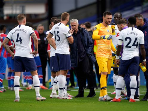 Tottenham manager Jose Mourinho will be looking for a reaction from his players (Will Oliver/PA)