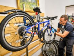 Cyclists can apply for £50 vouchers towards the cost of repairing a bike (Ben Birchall/PA)