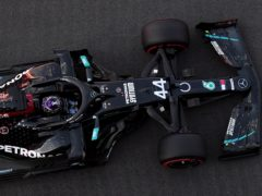 Mercedes encountered trouble on the opening day of testing (Ben Stansall/PA)