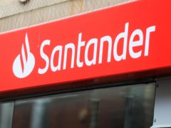 Santander is closing 111 branches (Mike Egerton/PA)