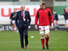 Wales head coach Wayne Pivac (left) and captain Alun Wyn Jones (PA)