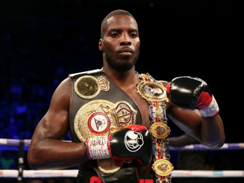 Lawrence Okolie bids to claim the world cruiserweight title on Saturday (Steven Paston/PA)