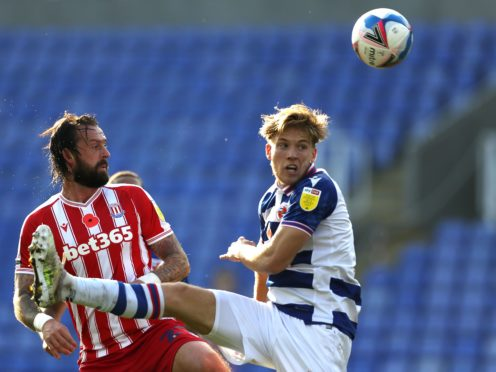 Reading's Lewis Gibson (right) is nearing a return to action (Bradley Collyer/PA)
