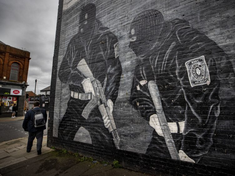 An Ulster Volunteer Force mural on the wall of a property in east Belfast (PA)