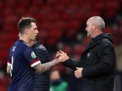 Steve Clarke is without Ryan Jack (Andrew Milligan/PA)