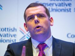 Tory leader Douglas Ross said Scots face a 'binary choice' in May's election (Colin D Fisher/Scottish Conservatives/PA)