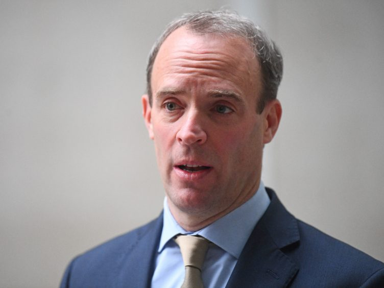Foreign Secretary Dominic Raab said IS remains the UK's 'most significant terrorist threat' (PA)