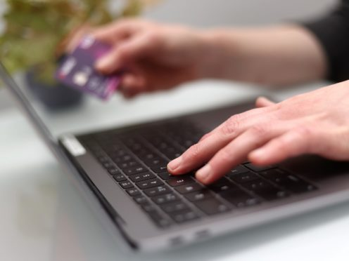 A record proportion of Christmas shopping was carried out online in December, according to card spending figures from UK Finance (Tim Goode/PA)