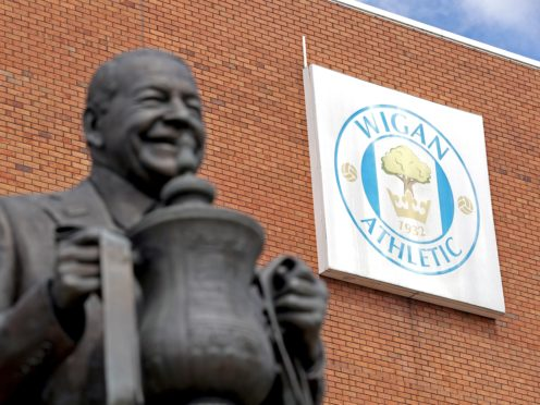 Wigan have announced they have agreed the sale of the club (Martin Rickett/PA)