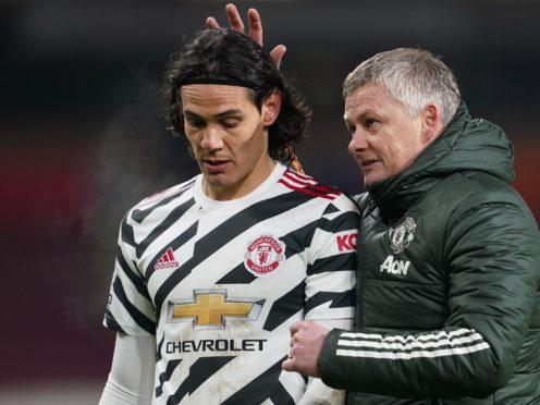 Edinson Cavani is back available for Ole Gunnar Solskjaer's Manchester United on Wednesday (Jon Super/PA)