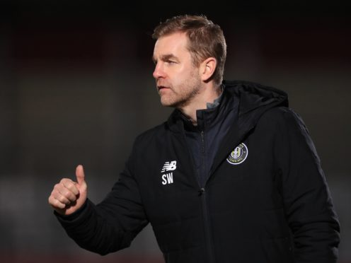 Simon Weaver, pictured, hopes Harrogate will be fresh after extra time off (Mike Egerton/PA)