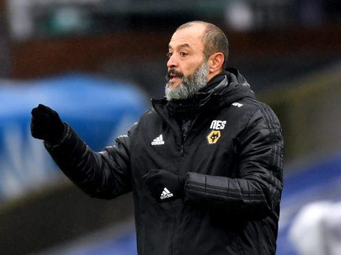 Nuno Espirito Santo's Wolves on Tuesday face a Manchester City outfit who have won each of their last 20 matches (Facundo Arrizabalaga/PA).