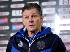 Shrewsbury manager Steve Cotterill has returned to hospital (Zac Goodwin/PA)