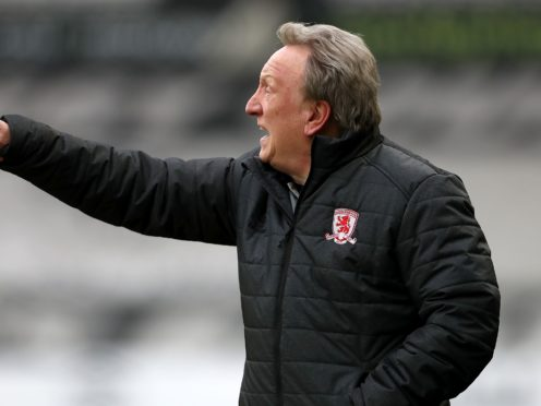 Neil Warnock has agreed to stay on as Middlesbrough manager (Bradley Collyer/PA)