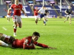 Louis Rees-Zammit scored four tries for Wales (Jane BarlowPA)