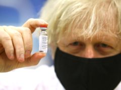 Prime Minister Boris Johnson is due to receive his first dose of the Oxford/Astra Zeneca vaccine (Geoff Caddick/PA)