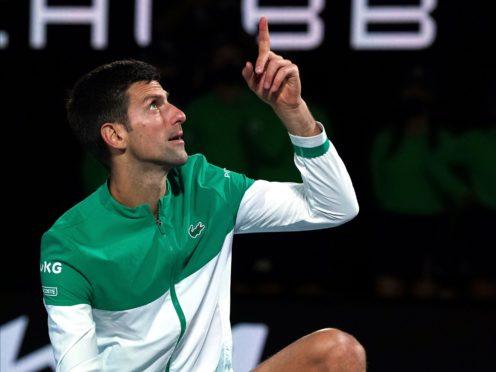 Novak Djokovic has equalled one of tennis' major records (Mark Dadswell/AP)