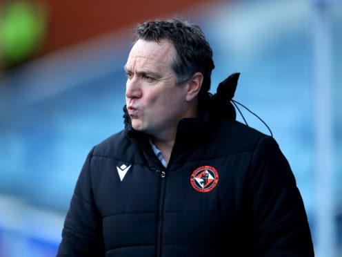 Dundee United manager Micky Mellon admits his side will be under pressure against Celtic if St Mirren slip up away to champions-elect Rangers (Jane Barlow/PA)
