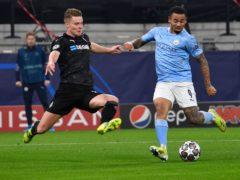 Borussia Monchengladbach's Nico Elvedi (left) believes the Germans can still overcome Manchester City (PA Wire via DPA)