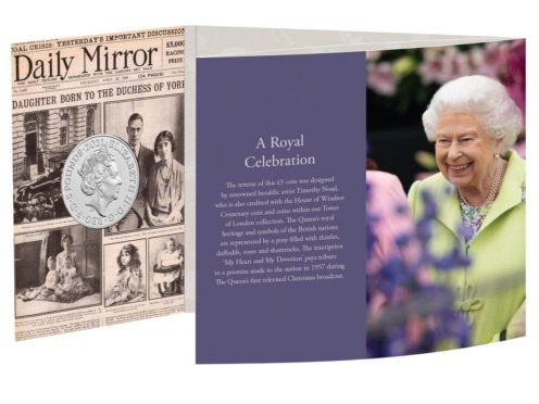 One of the new commemorative coins, 95 of which will be given to 95 people turning 95 years old, to celebrate the 95th birthday of the Queen this year (The Royal Mint/PA)