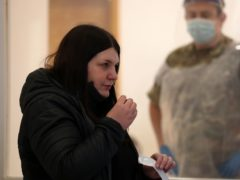 Glasgow City Council leader Susan Aitken takes a test (Andrew Milligan/PA)