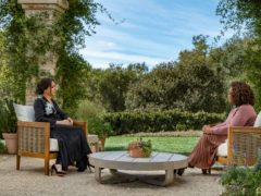 The Duchess of Sussex during her interview of with Oprah Winfrey (Harpo Productions /Joe Pugliese)