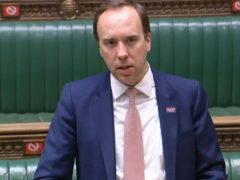 Matt Hancock updated MPs on the situation (House of Commons/PA)
