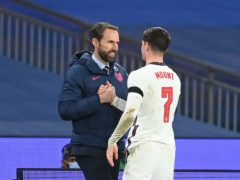 Mason Mount is hoping to make the right impression on Gareth Southgate, left (Michael Regan/PA)