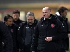Simon Grayson was proud of his Fleetwood players after they beat Lincoln (Zac Goodwin/PA)