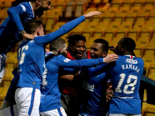 Rangers are rapidly closing in on a first title in 10 years (Andrew Milligan/PA)