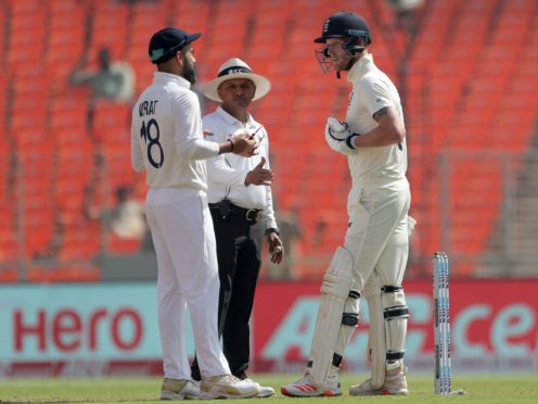 Ben Stokes was leading the England fightback in Ahmedabad (Aijaz Rahi/AP)