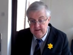First Minister of Wales Mark Drakeford speaks via videolink to the Welsh Affairs Committee (PA)