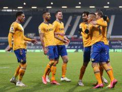 Everton's Richarlison celebrates his winner at West Brom. (Alex Pantling/PA)