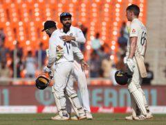Dan Lawrence stood tall but India were the dominant side (Aijaz Rahi/AP)