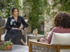 The Duchess of Sussex during the interview with Oprah Winfrey (Joe Pugliese/Harpo Productions)