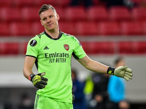 Arsenal goalkeeper Bernd Leno knows Arsenal must improve if they are to win the Europa League this season (PA).